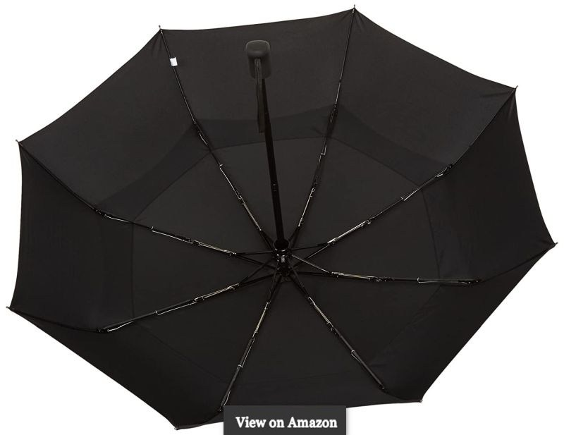 Automatic Open Close Umbrella with Wind Vents-Black