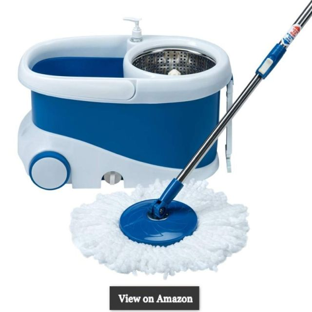 Gala Jet Spin mop with stainless steel wringer, jumbo wheels and 2 refills