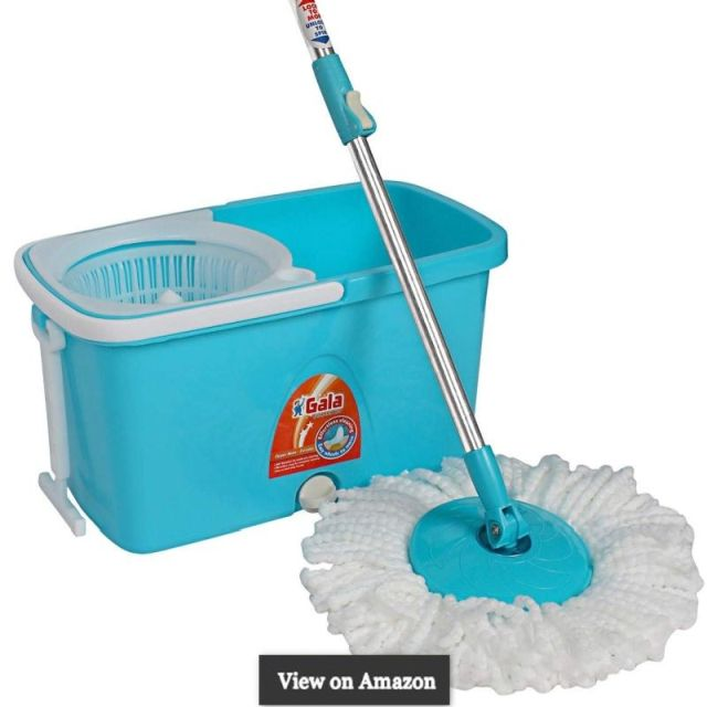 Gala Popular Spin Mop – With easy wheels, long handle, microfiber refill and water outlet