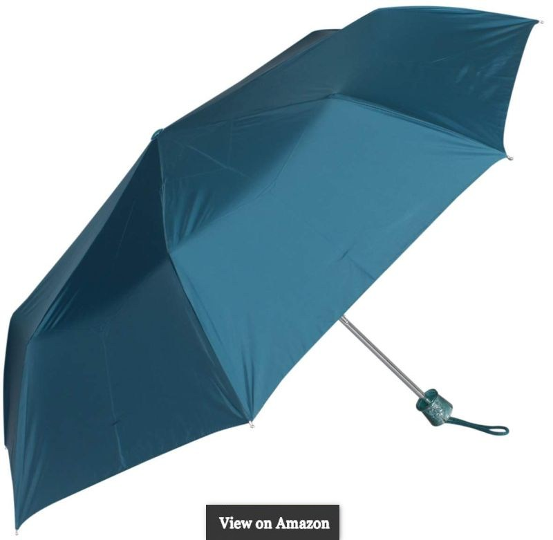 John's Umbrella 3 Fold 545 mm Manual Open with Silver Coated Umbrella