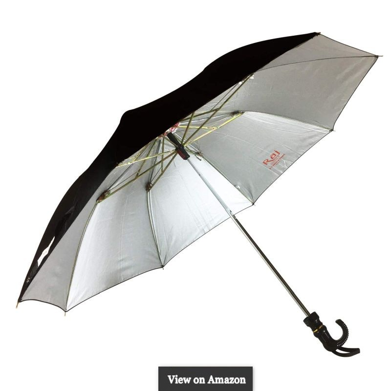 KC Paul & Sons 2 Fold Raj Polyster Black Umbrella