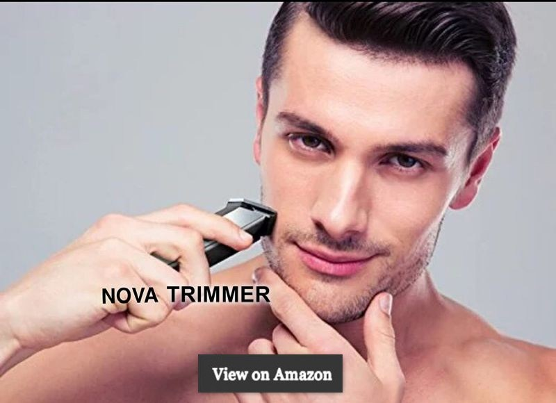 Nova NHT 1045 Rechargeable Cordless Beard Trimmer for Men (Black)