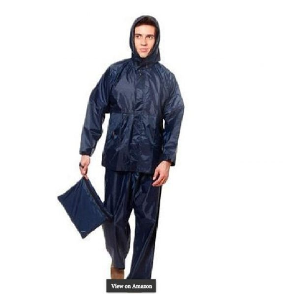 Calvus Men's Navy Blue 4 Piece Rain Suit Rain Coat
