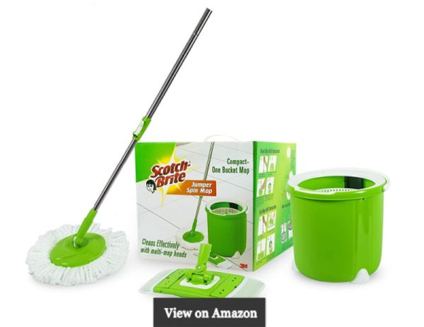 Scotch-Brite Jumper Spin Mop with Round and Flat Heads with Refill & Jumper Spin Mop with Round Refill Heads Combo