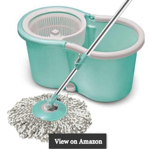 Spotzero By Milton Ace Spin Mop, Aqua green