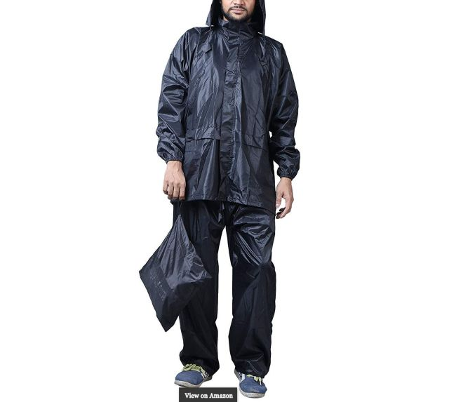 Zacharias Men's Semi Nylon Raincoat