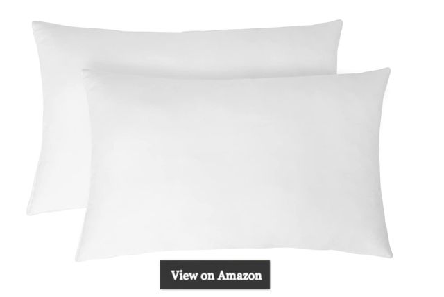 Solimo 2-Piece Ultra Soft Bed Pillow Set - 43 x 69 cm, White